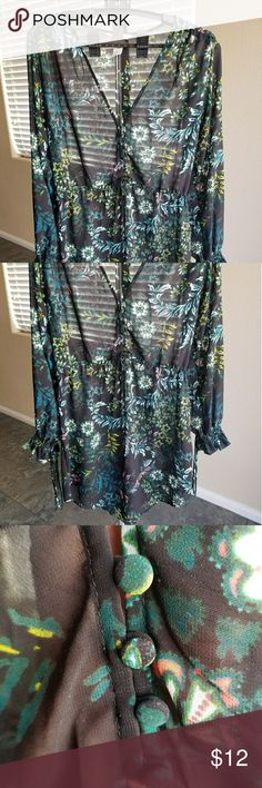 Floral H&M Dress Great for fall. Cute floral print. H&M Dresses Midi