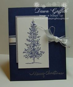Merry Christmas with Lovely as a tree (Dawns stamping thoughts Stampin'Up! Demonstrator Stamping Videos Stamp Workshop Classes Scissor Charms Paper Crafts) by Kimara Christmas Cards 2018, Stamped Christmas Cards, Homemade Christmas Cards, Stampin Up Christmas, Xmas Cards, Homemade Cards, Holiday Cards, Merry Christmas, Handmade Christmas