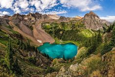 Hike the Blue Lakes Trail in the Uncompahgre National Forest, Colorado - Travel Bucket List Destinations You Have to Experience - Photos Colorado Trail, Colorado Springs, Colorado Lakes, Colorado Mountains, Colorado Backpacking, San Juan Mountains, Denver Colorado, Rocky Mountains, Travel Tips