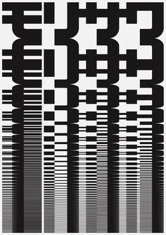 Japanese Poster: Morisawa. John Maeda. 1996   Gurafiku: Japanese Graphic Design