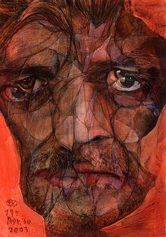 "Saatchi Online Artist: Takahiro Kimura; Assemblage / Collage, 2003, Mixed Media ""BROKEN1000FACES 195"""