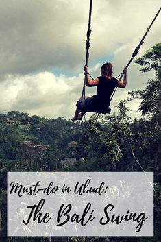 Must-do when in Ubud, Bali: the Bali Swing. Great swings right in the jungle high above a gorge - a true playground for adults. Visit my blog and read all you need to know about going to 'do' the Bali Swing!