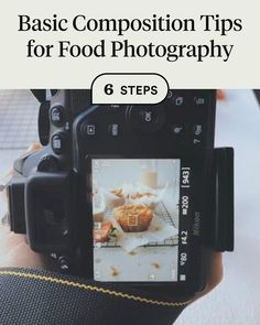 Discover how to Basic Composition Tips for Food Photography in 6 steps Photography Tips Iphone, Photography Basics, Photography Tutorials, Composition In Photography, Photography Styles, Photography Backgrounds, Photography Business, Food Photography Lighting, Best Food Photography