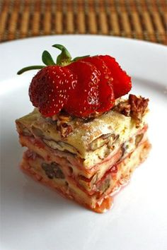 Strawberry Goat Cheese Banitsa - this is just unbelievable... can you  tell!?