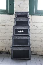 Metal Boxes with Chalkboard Labels, Set of Five 70.