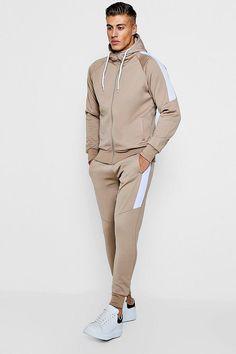 Nike Tracksuit Navy Mens Swoosh Logo Pullover Hoody /& Joggers Fleece Cuffed