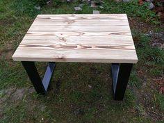 Wood table, burn wood