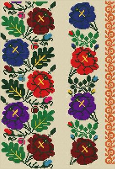 Ukr Russian Embroidery, Embroidery Motifs, Embroidery Patterns Free, Cross Stitch Embroidery, Cross Stitch Art, Cross Stitch Borders, Cross Stitching, Cross Stitch Patterns, Embroidery Techniques