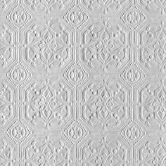 Anaglypta Derby / Classical Paintable White Wallpaper main image