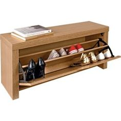 Cuban Shoe Storage Cabinet - Oak Effect. £44