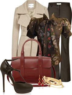 """""""Business Brown"""" by happygirljlc on Polyvore"""