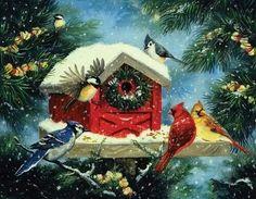Christmas+Bird+House.jpg (500×388)
