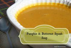 Pumpkin & Butternut Squash Soup is on the menu!