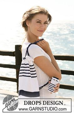 FREE PATTERN for a Striped bag & matching Cellphone Pocket via Ravelry