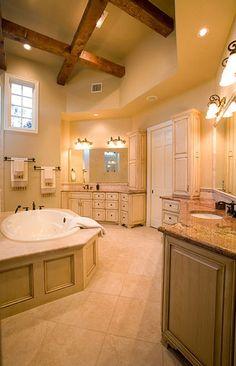 Sprawling Tuscan Ranch - mediterranean - bathroom - austin - by Russell Eppright Custom Homes