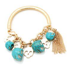 DIA DE LOS MUERTOS/DAY OF THE DEAD~skull charm bracelet
