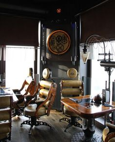 "Steampunk Restaurant - Wodna Vieza - Now, how to get this ""feeling"" into my dining/coffee/visiting area!"