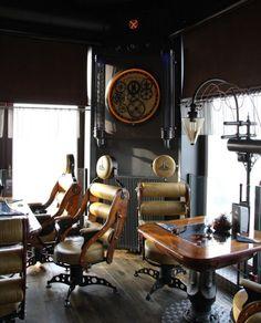 Steampunk Restaurant - Wodna Vieza #Architecture #Design #Steampunk