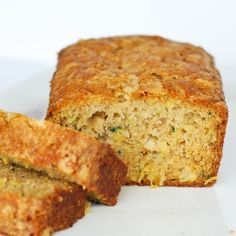 """zucchini bread with pineapple ~ this was good and the pineapple made it seem more """"summery"""". Flavor-wise I prefer my Betty Crocker recipe but this is still really good :)"""