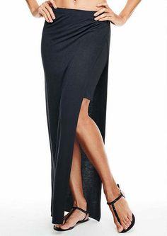 Chelsea Side Slit Maxi Skirt