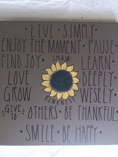 Live Simply Quote by zoegirlgifts on Etsy, $30.00 whole page, could DIY