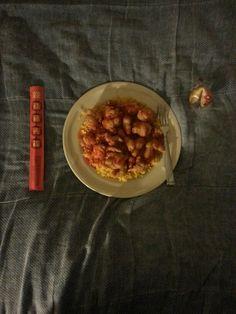 Sweet & Sour Chicken with Brown Rice & Fortune Cookie. #SweetAndSourChicken