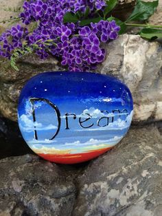 Hey, I found this really awesome Etsy listing at https://www.etsy.com/listing/230246063/handpainted-river-rock-dreamer
