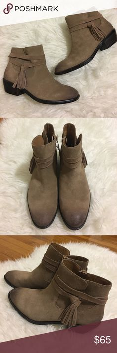 • Sofft booties with tassel detail size 7.5 • Brand new. Booties with tassel detail. No trades. Sofft Shoes Ankle Boots & Booties