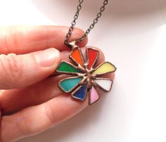 Statement stained glass jewelry #stainedglass #colorful #jewelry