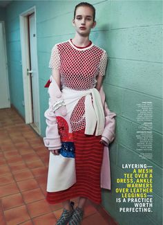 visual optimism; fashion editorials, shows, campaigns & more!: varsity muse: jenna roberts by boe marion for us marie claire march 2014