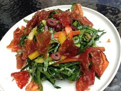 Kale, Jamon, Olive Salad @elplato