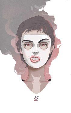 Masks by Kevin Contreras Amoretti, via Behance