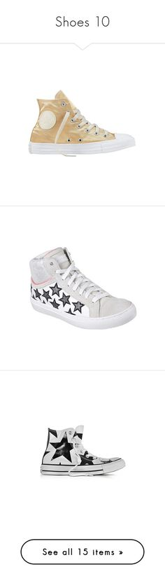 """""""Shoes 10"""" by cupkatyk ❤ liked on Polyvore featuring shoes, sneakers, casual, high top trainers, retro shoes, converse sneakers, converse high tops, high top sneakers, white and leather high top sneakers"""