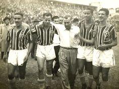 A partir da esquerda: Luizinho, Sastre, o técnico Joreca, Bauer e Noronha. Crédito: saopaulofc.net.