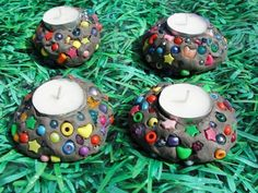 Style Candle Holders Mosaic Style Candle Holders for Kids to Make . links to site with Fun Activities & Play.Mosaic Style Candle Holders for Kids to Make . links to site with Fun Activities & Play. Preschool Crafts, Crafts For Kids, Activities For Kids, Outdoor Activities, Clay Candle Holders, Cadeau Parents, Christmas Clay, Camping Crafts, Mothers Day Crafts