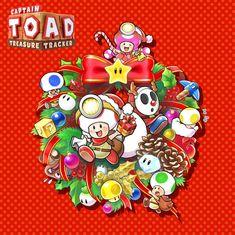Captain Toad: Treasure Tracker for Nintendo Switch - Nintendo Game Details Mario Kart, Mario Bros., Mario And Luigi, Super Mario Bros, Super Mario Brothers, Super Smash Bros, Christmas Games, Christmas Humor, Funny Christmas Wallpaper