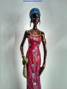 Senegalesa, africana, objeto de decoração !!  Prontinha para enfeitar sua casa ! R$ 60,00