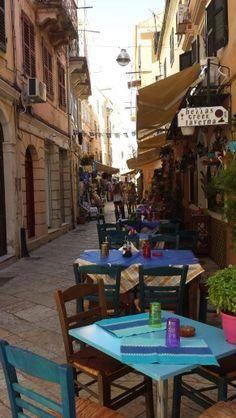 Corfu stad. Zo heerlijk gegeten bij deze taverne!