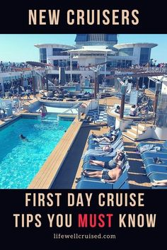 15 Cruise Embarkation Day Tips Straight from the Pros First day cruise tips you must know if you are a new cruiser! Embarkation day tips, sailaway information, so you can plan your best cruise! Packing List For Cruise, Cruise Travel, Cruise Vacation, Vacations, Disney Cruise, Honeymoon Cruise, Family Cruise, Cruise Wear, Shopping Travel