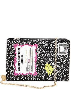 KITCH COMPOSITION BOOK SHOULDER BAG | Betsey Johnson