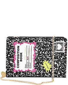KITCH COMPOSITION BOOK SHOULDER BAG | Betsey Johnson