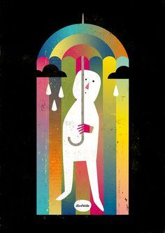 Luciano Lozano Illustration - 'Rain of Colours'