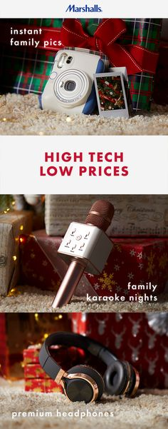 Switch on the holiday fun with the top tech and electronics to make memories with this year. Because high tech and great            value go hand in hand this holiday season.