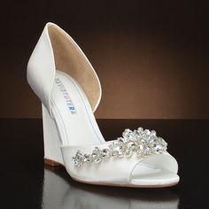 DAVID TUTERA WINTER Wedding Shoes and WINTER Dyeable Bridal Shoes WHITE, IVORY: