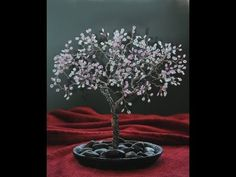 Beaded Wire Cherry Blossom Tree