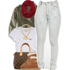 A fashion look from November 2014 featuring Hollister Co. t-shirts, H&M jackets and MICHAEL Michael Kors ankle booties. Browse and shop related looks.