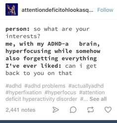 Listen, you're trying to open up a lot of files at once, gimme a minute to load>>>>> *load failed. Tumblr Funny, Funny Memes, Hilarious, Do I Have Adhd, Adhd Facts, Adhd Funny, Adhd Brain, Adhd And Autism, Mental Disorders