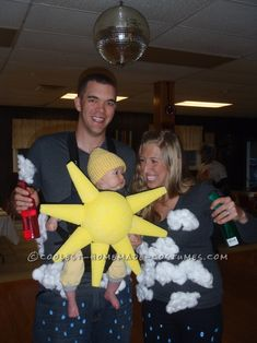 Partly Cloudy With a Chance of Rain Family Costume... This website is the Pinterest of costumes