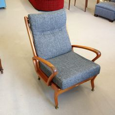 Danish style Easy Chair finished! Made by Wrightbuilt, dated 1964