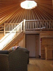 Over the years, we've had customers build lofts into their yurts of all different shapes, sizes and heights. See the photos and get ideas.